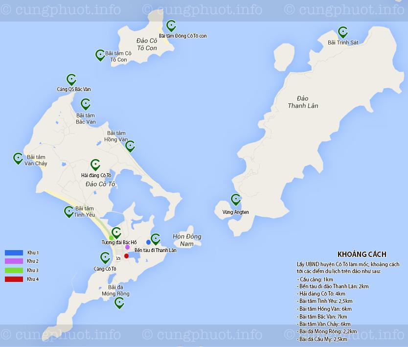 Bản đồ du lịch Cô Tô